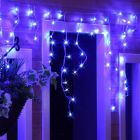 180 Blue LED Icicle Lights with White Flex 8 Flashing Light Sequences