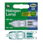 BELL 04079 - 18W = 25W Energy Saver 240V G9 Halogen Clear Capsule Bulb