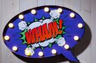 Comic Style Wall Sign - Speech Bubble WHAM! (DISPLAY MODEL ONLY)