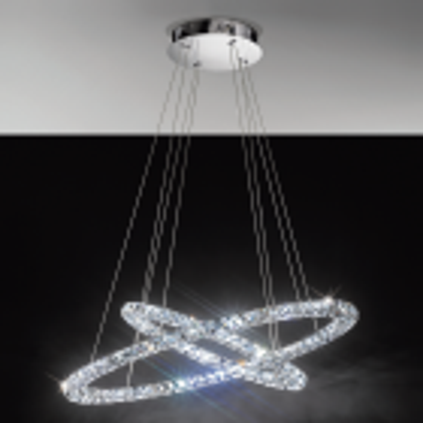 Eglo 93946 TONERIA LED Plastic Aluminium Crystal Ceiling Pendant