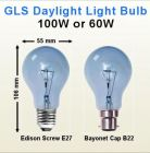 GLS Natural Daylight Craftlight 60W 100W BC B22 ES E27 Dimmable Light Bulbs