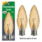 Bell Gold Flambelle Twisted Candle Twin Pack