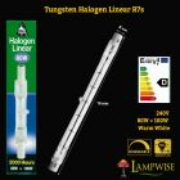 Bell Lighting 80w 78mm Tungsten R7 Halogen Linear