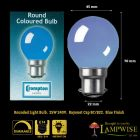 Crompton 25 Watt BC B22 Blue Coloured Golf Ball Bulb