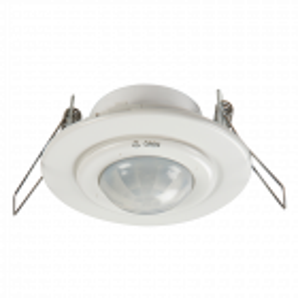 Recess Mounted PIR Motion Sensor IP20 360 degree White