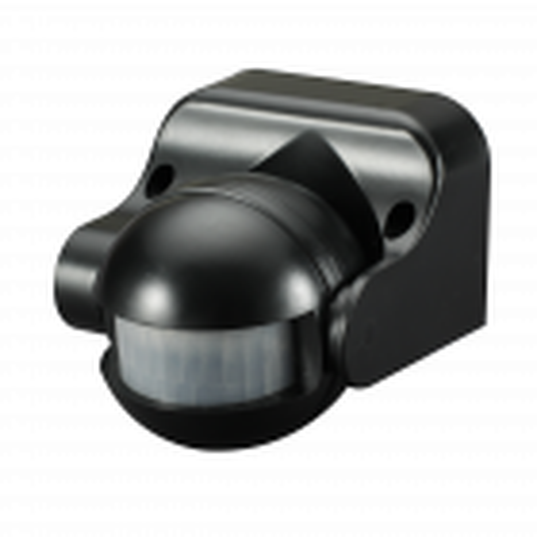 Wall or Ceiling PIR Sensor IP44 rated 180 degree Black
