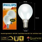 Philips 40W 240V Opal Golf Ball Bulb SES E14 Soft White Twin Pack