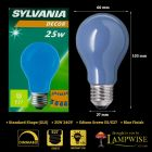 Sylvania 25 Watt ES E27 Blue Coloured Gls Bulb