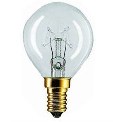 7W 240V SES E14 45mm Round Clear Light Bulb