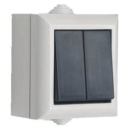 Weatherproof Switch 2G IP54