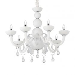Ideal Lux 022772 Windsor Sp8 White 8 Light Hanging Lamp
