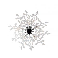 Ideal Lux 031064 Spring Pl5 Chromium and Iris 5 Light Ceiling Lamps