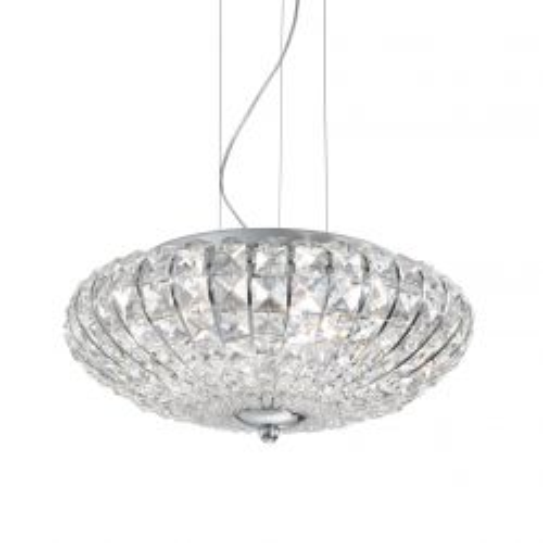Ideal Lux 036335 Virgin Sp5 Chrome 5 Light Hanging Pendant