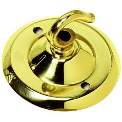 Ceiling Hook-plate Brass 2½ inch Ø