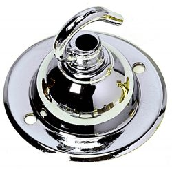 Ceiling Hook-plate Chrome 2.5 inch diameter