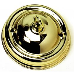 Ceiling Hook-plate Large Brass 4¼ inch Ø