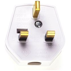 13A Plug White Fused 13A Easy cordgrip, quick to wire and nice quality finish.