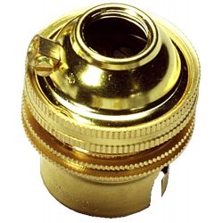 Ecofix BC Lampholder ½ inch Unswitched Brass