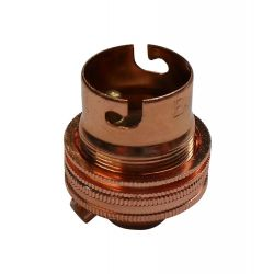 Ecofix BC Lampholder ½ inch Unswitched Copper