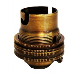 Ecofix BC Lampholder ½ inch Unswitched Antique Brass