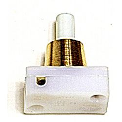 Mini Press Switch Brass 2A (White Button)