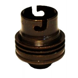 Ecofix BC Lampholder ½ inch Unswitched Bronze
