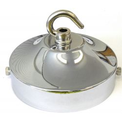 Ceiling Hook-plate Large Polished Nickel 4¼ inch Ø
