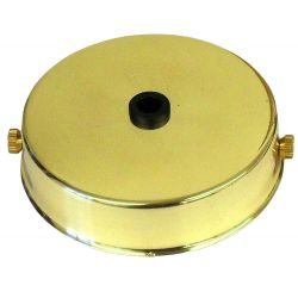 Ceiling Rose Polished Brass for Metalbrite Pendant 85mm x 21mm