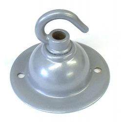 Ceiling Hook-plate Metallic Grey 2½ inch Ø