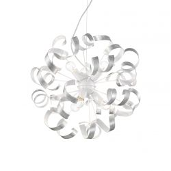 Ideal Lux 101613 Vortex Sp6 Silver 6 Light Hanging Pendant