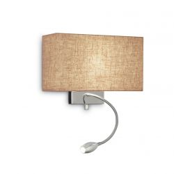 Ideal Lux 103204 Hotel Ap2 Canvas 2 Light Wall Lamp