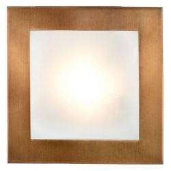 EGLO 27904 Bronze Flush ceiling light 210mm square, 60w included