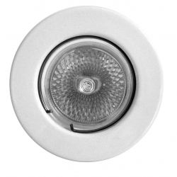 DAR Lighting DOW502LV White Low Voltage Downlight 12v 50w Max Fixed