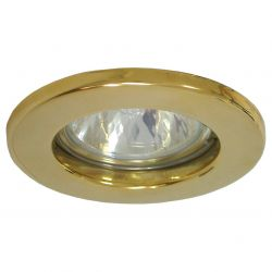 DOT Lighting Polished Brass 12v Recessed fixed Downlight 65mm cut out