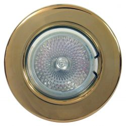 12V Fixed Brass Downlight c/w Lamp holder and fixings