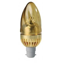 Megaman LED 5W 220-240V SBC/B15 Twisted Gold Candle Lamp