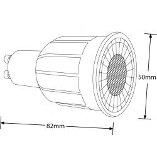 Aurora Enlite EN-DGU1038/40 10W 240V Long Neck GU10 38° Dimmable LED Lamp