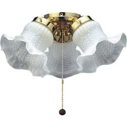 Fantasia 221753 Ceiling Fan Light - Tulip 3 Light Polished Brass