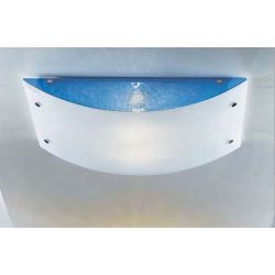 Kolarz A28.61 Blue Murano Glass Curved Wall Lamp or Ceiling Light