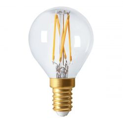 LED Filament Golf Ball 4W SES E14 Warm Clear Instant Light Bulb