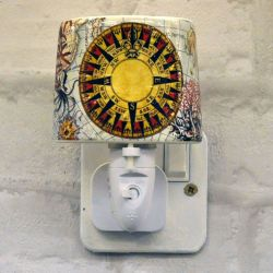 Compass Ceramic Plug-in Night Light