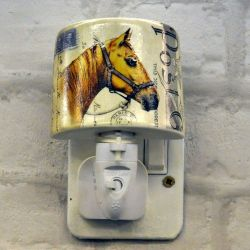 Brown Horse Ceramic Plug-in Night Light