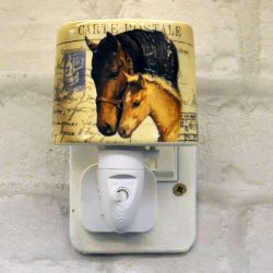 Mare & Foal Ceramic Plug-in Night Light