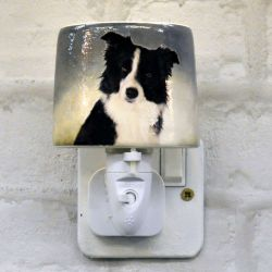 Collie Ceramic Plug-in Night Light