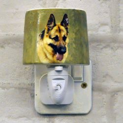 Alsation German Shepard Ceramic Plug-in Night Light