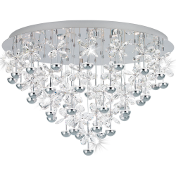 Eglo 39246 PIANOPOLI LED Cluster Stainless Clear Ceiling Pendant