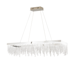 Eglo 39283 ANTELAO LED Cluster Steel Chrome Clear Ceiling Pendant