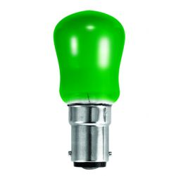 BELL 02480 15W Small Sign Pygmy Light Bulb - SBC B15, Green