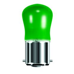 BELL 02560 15W Small Sign Pygmy Light Bulb - BC B22, Green