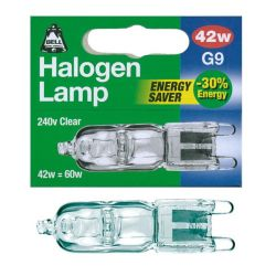 Bell 42w 240v Clear G9 Halogen Capsules Energy Saver 42w = 60w